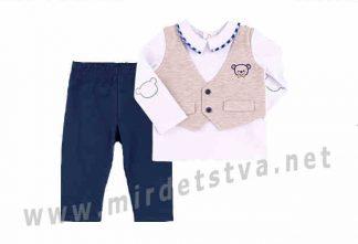 Нарядный трикотажный костюм на девочку до года Бемби КС582