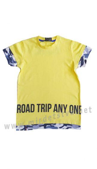 Желтая футболка на мальчика Cegisa 7060