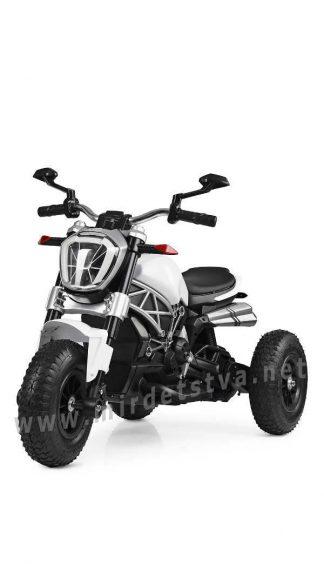 Белый трехколесный мотоцикл Bambi M 4008AL-1