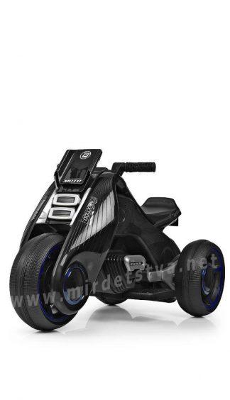 Черный мотоцикл на аккумуляторе Bambi M 3926-2