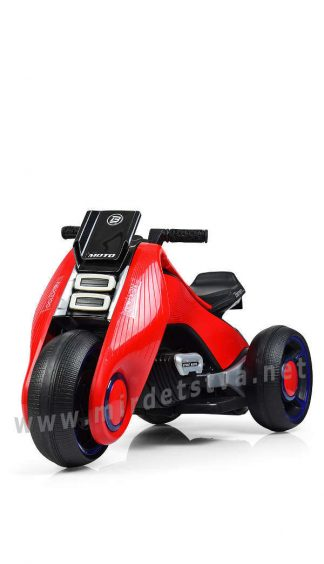 Детский электромобиль мотоцикл Bambi M 3926-3 красный