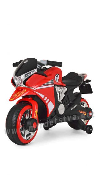 Детский электромотоцикл со страховочными колесами Bambi M 3682L-3
