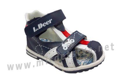 Качественные сандалии на мальчика из натуральной кожи B&G LD190-903