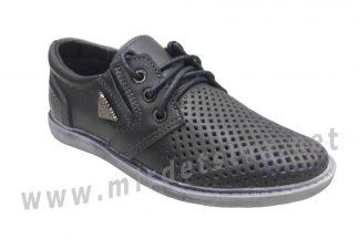 Кожаные перфорированные кроссовки на шнурках Jordan 3756