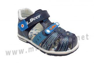 Кожаные сандалии с закрытыми носком и задником на мальчика B&G LD190-907