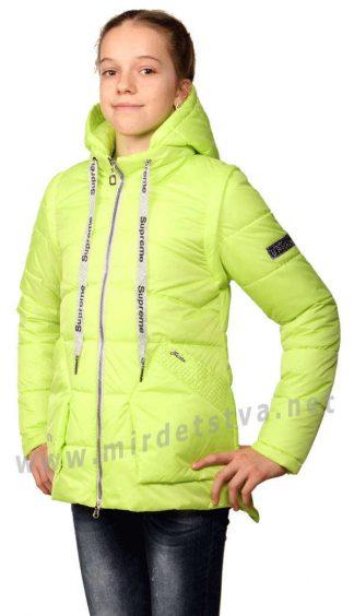 Красивая куртка-трансформер с капюшоном на девочку Nestta Nikol
