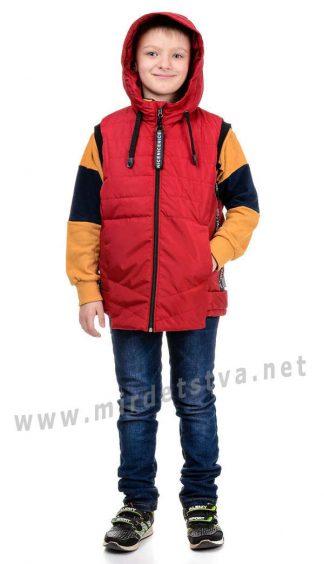 Модная красная жилетка унисекс с капюшоном Traveler Fashion
