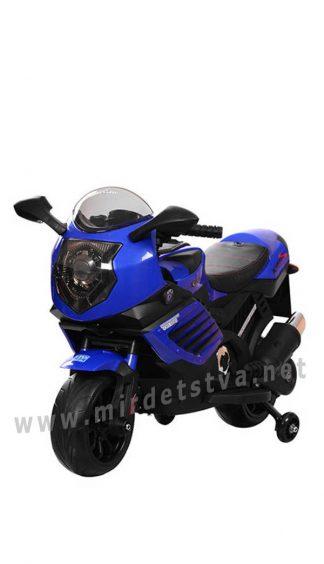 Мотоцикл с EVA колесами Bambi M 3578EL-4 синий