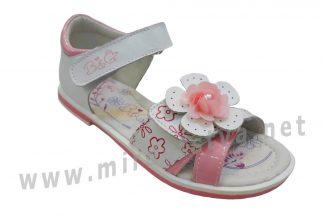 Нежно-розовые детские босоножки с жестким задником B&G BG190-832