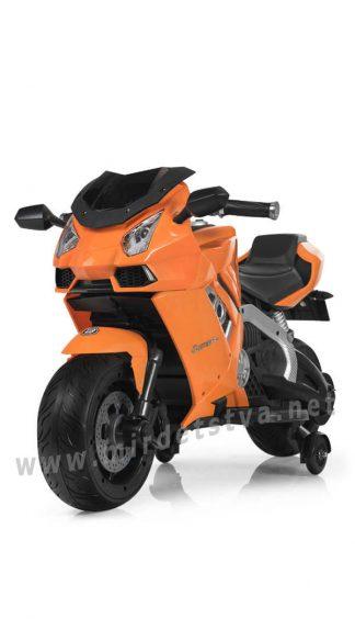 Оранжевый детский мотоцикл Bambi M 3637EL-7