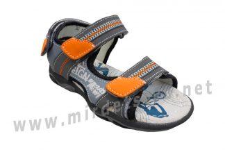 Открытые кожаные детские сандали на мальчика B&G BG190-926