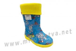 Резиновые сапоги на мальчика AlisaLine Color301 Мышь синяя