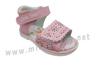 Розовые ажурные босоножки для девочки B&G LD190-818