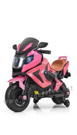 Розовый мотоцикл Bambi M 3681ALS-8 в автопокраске