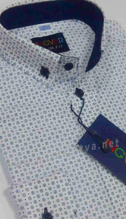 Рубашка с латками на локтях INGVAR 2011/2 slim fit