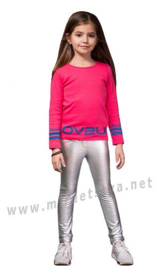 Серебристые брюки для девочек Овен Хельга 19Ш1-185-4