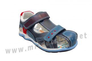 Синие кожаные сандалии на мальчика B&G BG190-933