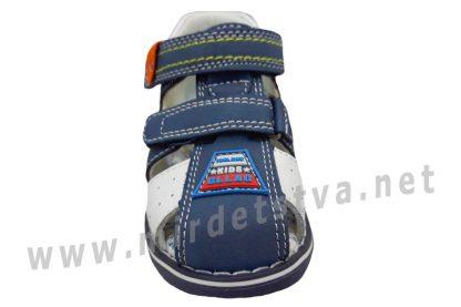 Синие сандалии на мальчика с жестким задником и закрытым носком B&G LD190-917
