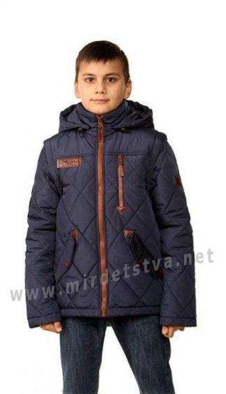 Синяя детская куртка-жилет на мальчика Nestta Lider
