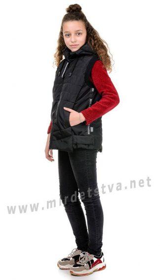 Стеганый черный жилет унисекс Traveler Fashion