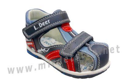 Удобные кожаные мальчиковые сандалии  B&G LD190-912