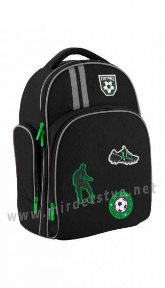 Черный рюкзак школьный Kite Education Football K19-706M-2