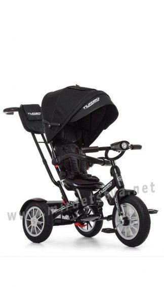 Черный трехколесный велосипед Turbo Trike M 4057-20