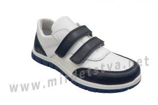 Детские кожаные кроссовки на липучках для мальчика Bistfor 97112/919/748