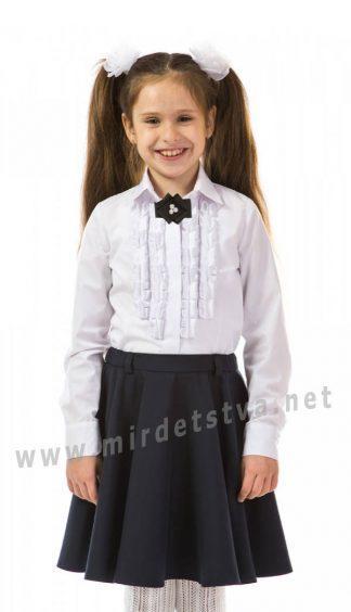 b1df1c499a4 ... Эффектная детская школьная блузка с отложным воротничком KidsCouture  71711401100