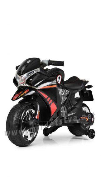 Электромотоцикл Bambi M 3682L-2 черный
