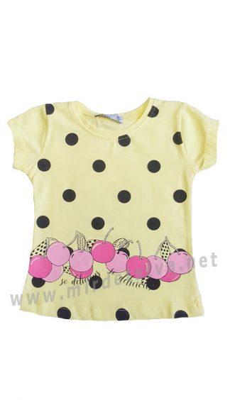 Качественная футболка из хлопка на меленькую девочку Miss Tuffy MR19-212