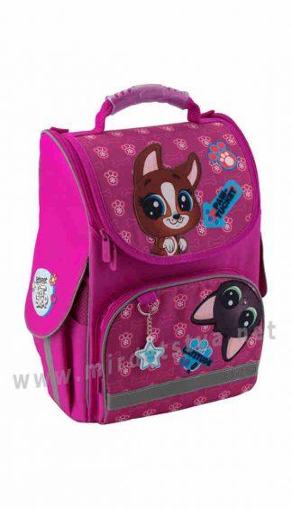 Каркасный школьный ортопедический рюкзак для девочек Kite Education Littlest Pet Shop PS19-501S_1
