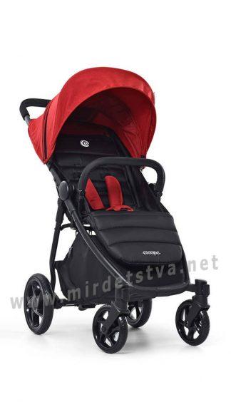 Красная детская коляска EL CAMINO ME 1032L Escape crimson black