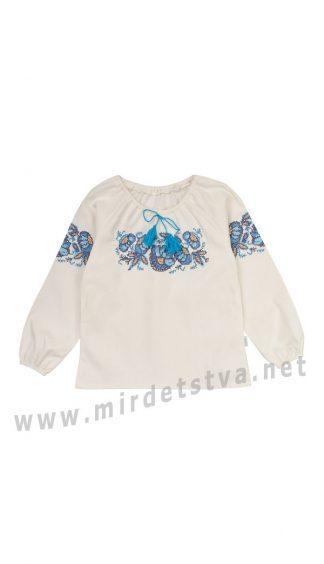 Льняная детская красивая украинская вышиванка на девочку РБ101