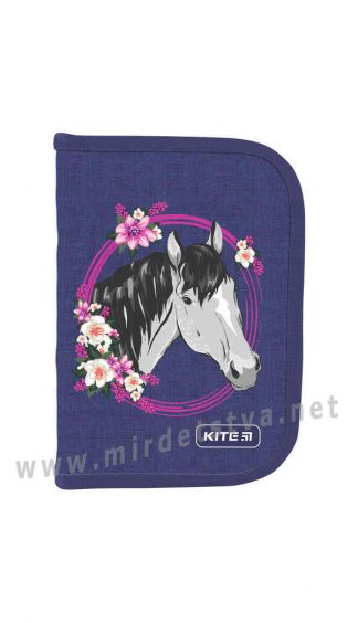Пенал Kite Education Beautiful horse K19-622-9 2 отворота