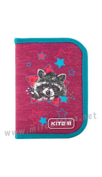 Пенал школьный Kite Education Fluffy racoon K19-621-1