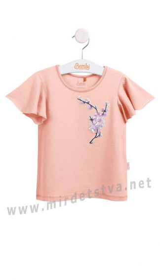 Розовая нарядная футболка Бемби ФБ625