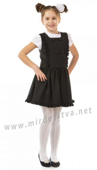 Школьный черный сарафан с пышной юбкой KidsCouture 7171700207