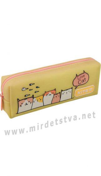 Школьный пенал с рисунком кошек Kite Education K19-690-1