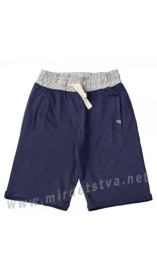 Синие трикотажные хлопковые шорты на мальчика KidsCouture 80603215