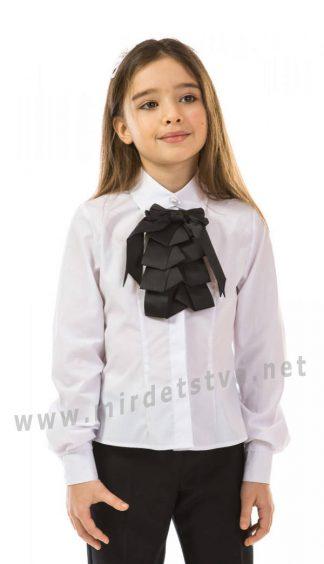 Стильная детская блуза для школы с бантом жабо KidsCouture 71712701102