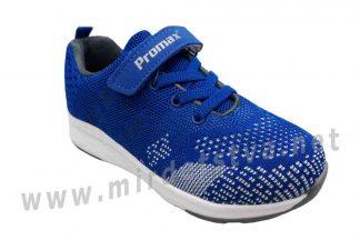 Текстильные синие детские кроссовки на мальчика Promax 1506-3