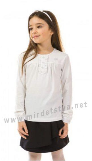 Трикотажная блузка с длинным рукавом для девочки в школу KidsCouture 7171191668