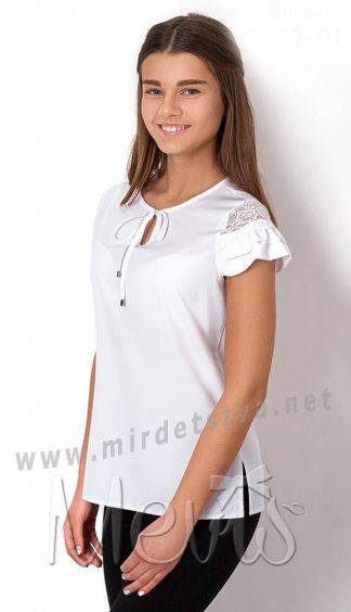 Белая блуза для девочек Mevis 2709-01