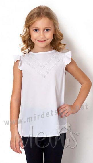 Белая блуза с коротким рукавом Mevis 2666-02