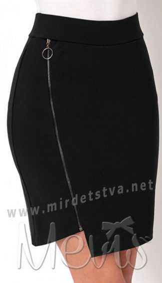 Черная школьная подростковая юбка Mevis 2692-02