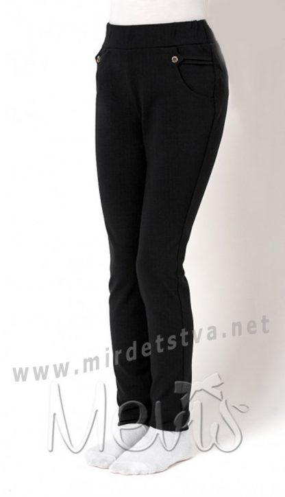 Черные лосины школьные Mevis 2746-02