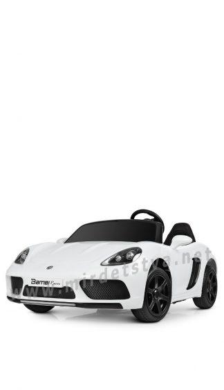 Двухместный белый электромобиль Bambi M 4055AL-1