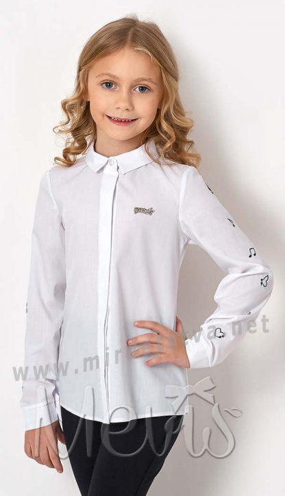 Хлопковая блуза Mevis 2723-01 длинный рукав