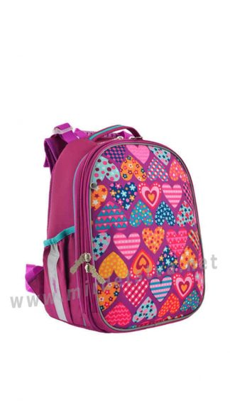Каркасный рюкзак школьный 1 Вересня H-25 Heard puzzle